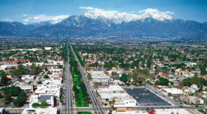 A view of the city of Ontario, California.