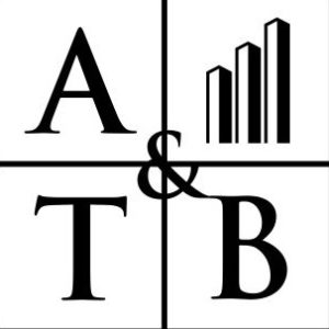 The ATBCal logo in a square black and white.