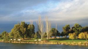 A lake in Mountain View, California.