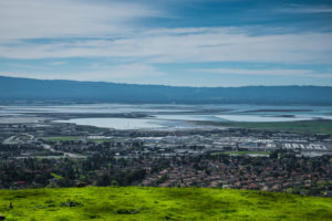 Northern Santa Clara County with a view of the water.